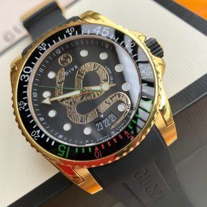 LIMITED EDITION GUCCI 45MM SNAKE DIVE WATCH!!
